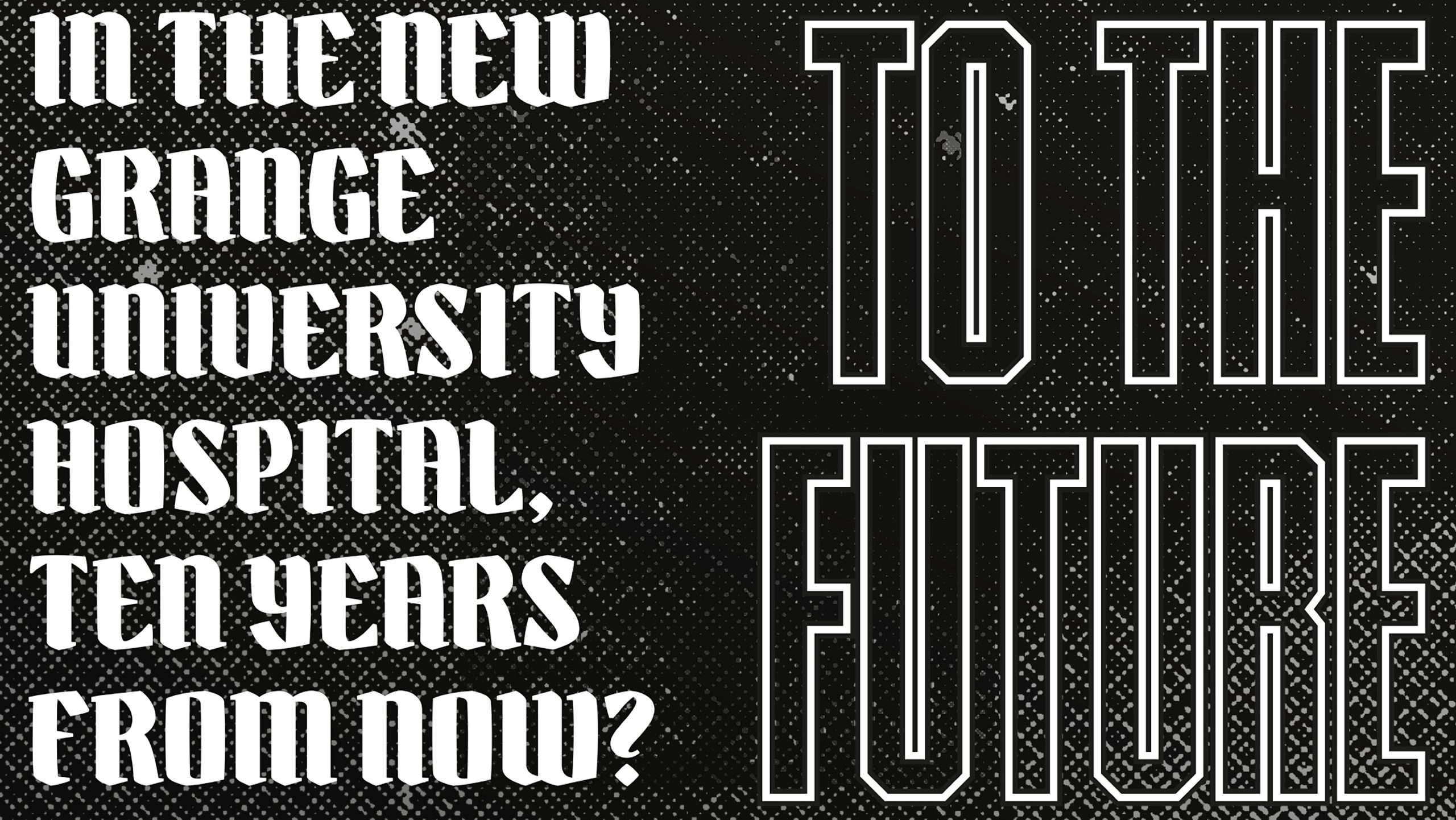 Close up of a typographic poster called Time Machine Talk to the Future designed by City Edition Studio